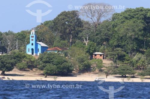 Vista da Igreja de Nossa Senhora da Conceição - Maués - Amazonas (AM) - Brasil
