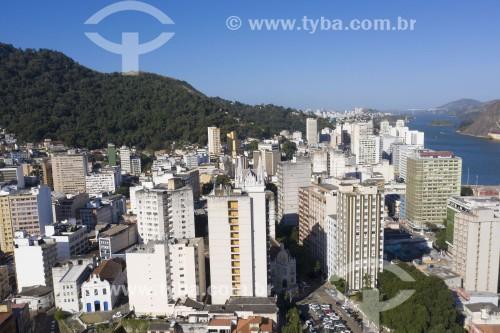 Foto feita com drone do centro histórico da cidade - Igreja de São Gonçalo à esquerda - Vitória - Espírito Santo (ES) - Brasil