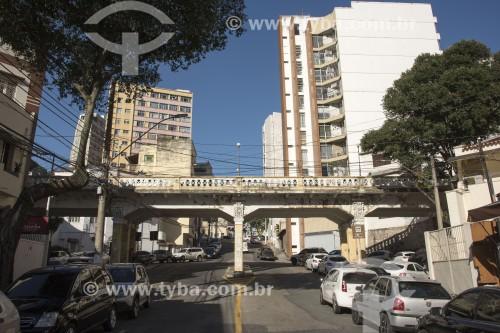 Viaduto Caramuru no centro histórico da cidade - Vitória - Espírito Santo (ES) - Brasil
