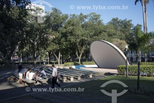 Concha acústica no Parque Moscoso - Centro histórico da cidade - Vitória - Espírito Santo (ES) - Brasil