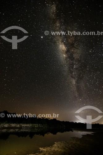 Vista da Via Láctea na beira do Rio Parnaíba - Divisa do Piauí com o Maranhão - Porto - Piauí (PI) - Brasil