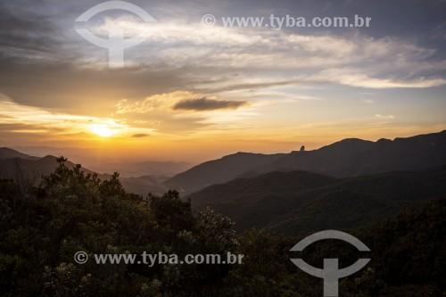 Vista de montanhas na Serra da Mantiqueira ao por do sol - Itamonte - Minas Gerais (MG) - Brasil