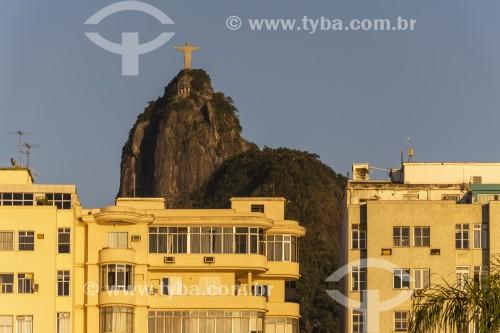 Vista do Cristo Redentor a partir da Praia de Botafogo - Rio de Janeiro - Rio de Janeiro (RJ) - Brasil