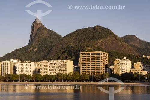 Vista do Morro do Corcovado e da da Praia de Botafogo - Rio de Janeiro - Rio de Janeiro (RJ) - Brasil