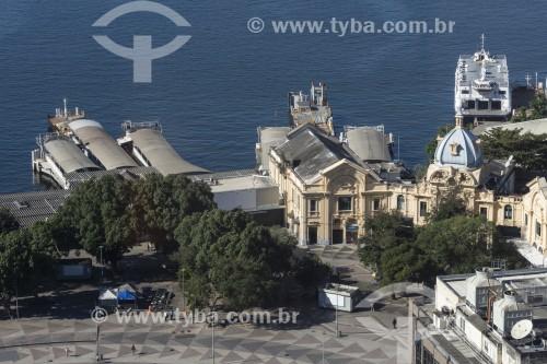 Vista de cima da Estação Hidroviária da Praça XV - Rio de Janeiro - Rio de Janeiro (RJ) - Brasil