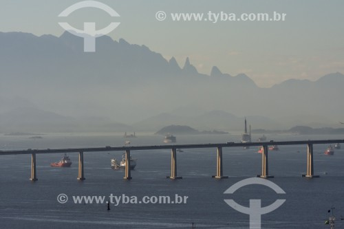 Vista da Ponte Rio-Niterói (1974) - Rio de Janeiro - Rio de Janeiro (RJ) - Brasil