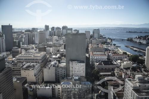 Vista de prédios do Centro do Rio de Janeiro - Rio de Janeiro - Rio de Janeiro (RJ) - Brasil