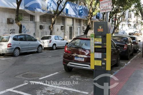 Sistema de controle de estacionamento pago no centro histórico da cidade - Vitória - Espírito Santo (ES) - Brasil