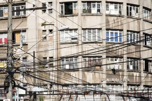 Prédio invadido por movimentos sociais à procura de moradia - centro hisórico da cidade Local:Vitória-ES Data:09/2019 Autor:Delfim Martins/Pulsar Imagens