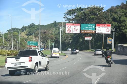Autoestrada Engenheiro Fernando Mac Dowell - mais conhecida como Autoestrada Lagoa-Barra - Rio de Janeiro - Rio de Janeiro (RJ) - Brasil