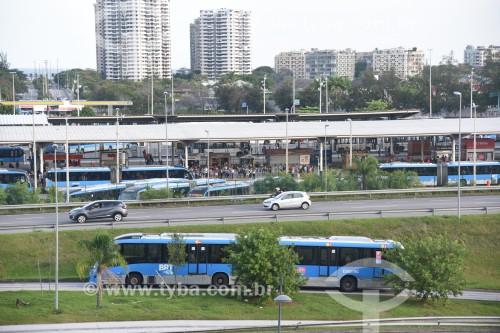 Vista do Terminal Alvorada a partir da Cidade das Artes - Rio de Janeiro - Rio de Janeiro (RJ) - Brasil
