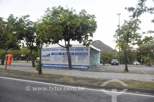 Posto móvel para exame de Covid 19 - Crise do Coronavírus - Rio de Janeiro - Rio de Janeiro (RJ) - Brasil