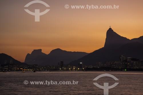 Vista da Baía de Guanabara e da cidade do Rio de Janeiro a partir da passarela do Forte Tamandaré da Laje (1555) - Rio de Janeiro - Rio de Janeiro (RJ) - Brasil