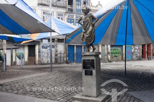 Estátua de Mercedes Baptista no Largo de São Francisco da Prainha - Rio de Janeiro - Rio de Janeiro (RJ) - Brasil
