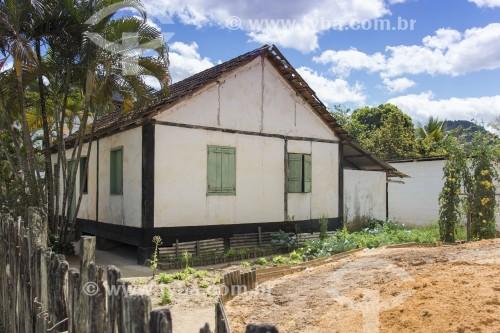 Casa térrea com características de imigrantes pomeranos - Pancas - Espírito Santo (ES) - Brasil