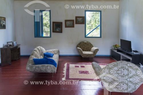 Interior de casa de fazenda com decoração pomerana - Pancas - Espírito Santo (ES) - Brasil