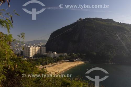 Vista da Praia Vermelha ao amanhecer - Rio de Janeiro - Rio de Janeiro (RJ) - Brasil