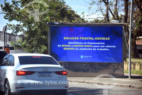 Cartaz de alerta sobre o Coronavírus - Rio de Janeiro - Rio de Janeiro (RJ) - Brasil