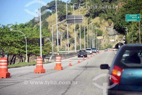 Tráfego na entrada do Túnel do Pepino - Rio de Janeiro - Rio de Janeiro (RJ) - Brasil