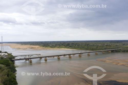 Foto feita com drone de ponte sobre o Rio Doce - Rodovia Governador Mário Covas (BR-101) - Linhares - Espírito Santo (ES) - Brasil