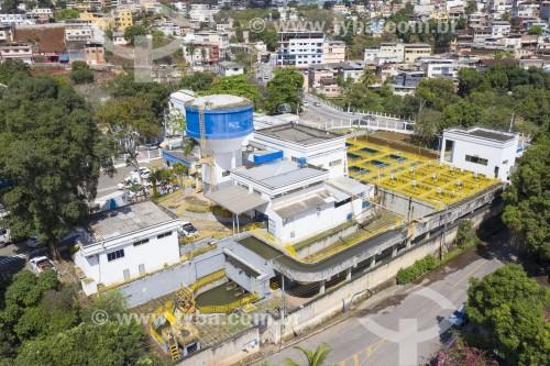 Foto feita com drone da estação de tratamento de água - Cachoeiro de Itapemirim - Espírito Santo (ES) - Brasil