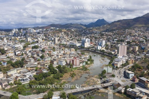 Foto feita com drone do Rio Itapemirim - Cachoeiro de Itapemirim - Espírito Santo (ES) - Brasil