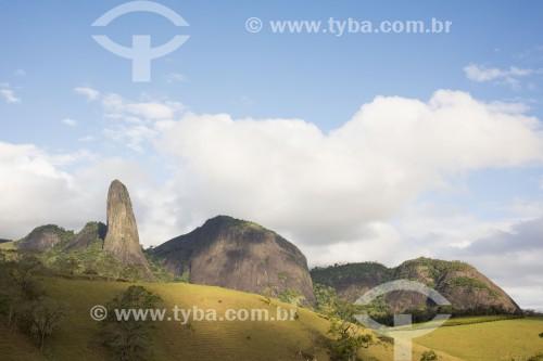Foto feita com drone do Pico do Itabira - Cachoeiro de Itapemirim - Espírito Santo (ES) - Brasil