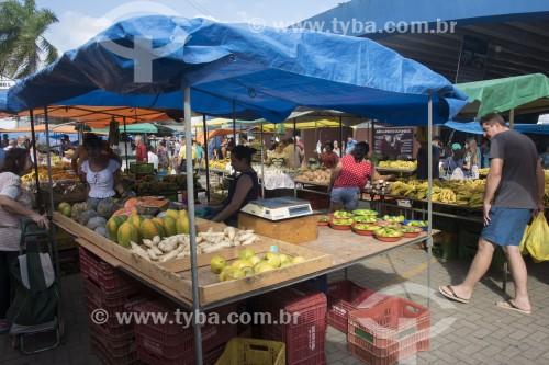 Feira livre no Mercado Municipal da cidade - Aracruz - Espírito Santo (ES) - Brasil