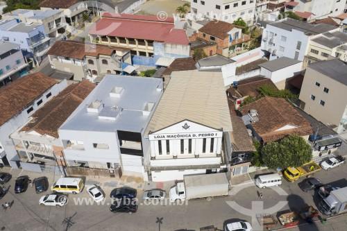 Foto feita com drone da loja maçônica da cidade - Aracruz - Espírito Santo (ES) - Brasil