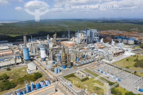 Foto feita com drone da Fábrica da Suzano Celulose - Aracruz - Espírito Santo (ES) - Brasil