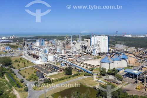 Foto feita com drone das instalações da Chemtrade Logisticse da Fábrica da Suzano Celulose - Aracruz - Espírito Santo (ES) - Brasil