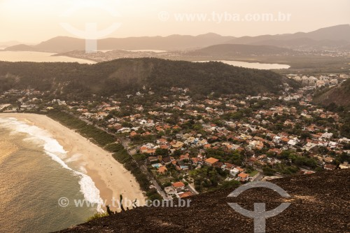 Por do sol visto do Costão de Itacoatiara - Parque Estadual da Serra da Tiririca - Niterói - Rio de Janeiro (RJ) - Brasil