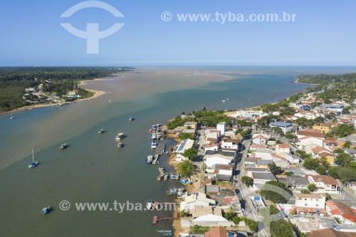 Foto feita com drone da foz do Rio Piraquê-Açu - Aracruz - Espírito Santo (ES) - Brasil