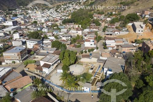 Foto feita com drone da estação de tratamento de água da cidade - Pancas - Espírito Santo (ES) - Brasil