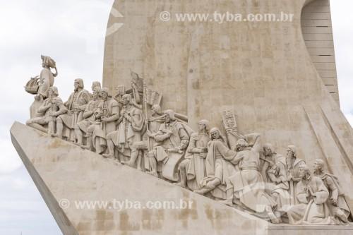 Detalhe do Padrão dos Descobrimentos (Monumento aos Descobrimentos) - Lisboa - Distrito de Lisboa - Portugal