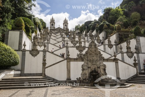 Escadaria do Santuário de Bom Jesus do Monte - Braga - Distrito de Braga - Portugal