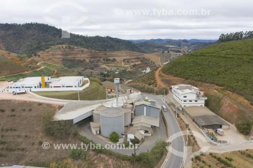 Foto feita com drone de indústria de ração para aves - Santa Maria de Jetibá - Espírito Santo (ES) - Brasil