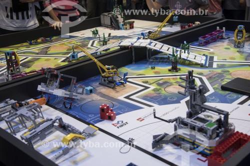 Torneio de robótica no Festival SESI de robótica - Disputa de FIRST LEGO League com estudantes de todo o país - no pavilhão da Bienal do Ibirapuera - São Paulo - São Paulo (SP) - Brasil
