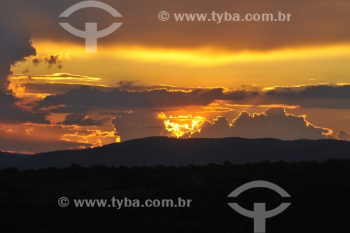 Pôr do Sol na Serra da Canastra - São João Batista do Glória - Minas Gerais (MG) - Brasil