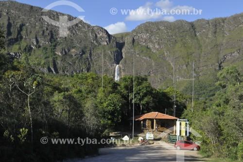 Portaria 04 do Parque Nacional da Serra da Canastra - Cachoeira Casca DAnta ao fundo - São Roque de Minas - Minas Gerais (MG) - Brasil