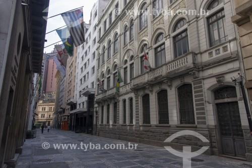 Comércio da Rua Álvares Penteado fechado devido a pandemia - Crise do Coronavírus - São Paulo - São Paulo (SP) - Brasil