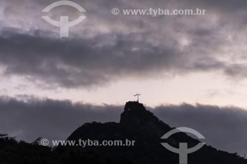 Vista do Cristo Redentor a partir do bairro de Laranjeiras - Rio de Janeiro - Rio de Janeiro (RJ) - Brasil