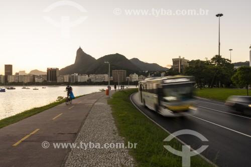 Vista do Avenida Infante Dom Henrique com a Enseada de Botafogo e o Cristo Redentor ao fundo - Rio de Janeiro - Rio de Janeiro (RJ) - Brasil