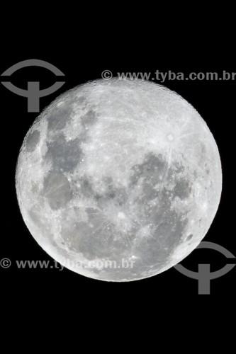 Vista da lua cheia na Área de Proteção Ambiental da Serrinha do Alambari - Resende - Rio de Janeiro (RJ) - Brasil