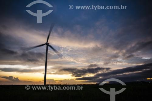 Pôr do sol no Parque Eólico da Honda Energy - Xangri-lá - Rio Grande do Sul (RS) - Brasil
