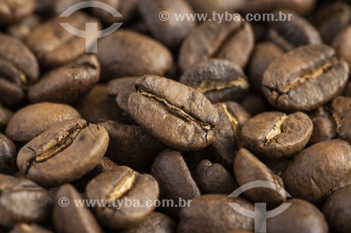 Detalhe de Café especial Moca em grãos torrados 100% arábica - Rio de Janeiro - Rio de Janeiro (RJ) - Brasil