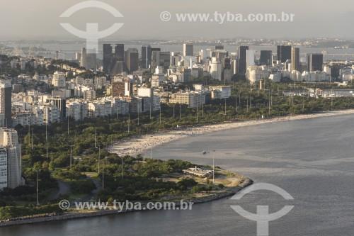 Vista do Aterro do Flamengo a partir do mirante do Morro da Urca - Rio de Janeiro - Rio de Janeiro (RJ) - Brasil