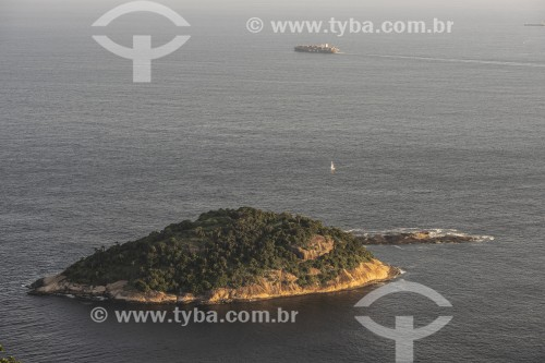 Ilha de Cotunduba vista a partir do Morro da Urca - Rio de Janeiro - Rio de Janeiro (RJ) - Brasil