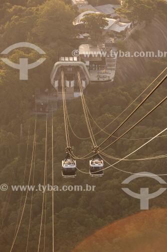 Bondinhos fazendo a travessia entre o Morro da Urca e o Pão de Açúcar - Rio de Janeiro - Rio de Janeiro (RJ) - Brasil
