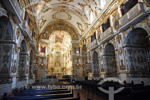 Interior da Igreja de Nossa Senhora do Carmo (1770) - antiga Catedral do Rio de Janeiro - Rio de Janeiro - Rio de Janeiro (RJ) - Brasil